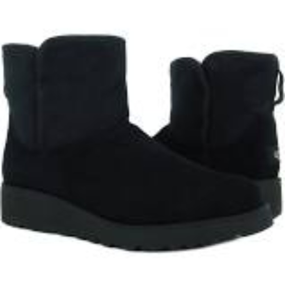UGG Australia Kristin Black Suede Boots 7 New Firm